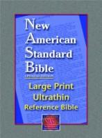 NASB Large Print Ultrathin Reference Bible Genuine Leather