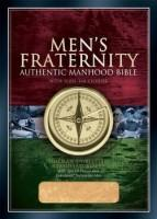 Mens Fraternity Bible - Authentic Manhood Bible With Slide Tab Closure