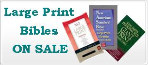 Large print and Giant print Bibles on Sale